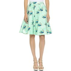 alice + olivia Earla High Waisted Skirt ($330) ❤ liked on Polyvore featuring skirts, parrots in paradise, pocket skirt, watercolor skirt, stretchy skirts, open back skirt and zipper skirt