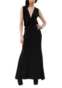 Angie - reversible blouson maxi dress (backless or plunge)