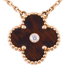 The Get | Van Cleef  Arpels Touch Wood Vintage Alhambra Pendant - NYTimes.com