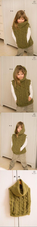 Cable poncho Cora crochet pattern