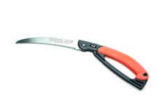 Our Pruning Saw is the best design you can find. It has a 2 rows of cutting teeth design that cuts both ways. Along with an 9.5 inch blade that makes for fast cutting.