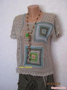 Irish crochet &: GRANNY SQUARE ... БАБУШКИН КВАДРАТ