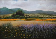 """""""Mountain View"""", oil on canvas, 10""""x15"""", by Katarzyna Lappin, (c)."""