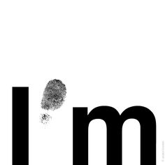 """ I'mprint "", black & white 
