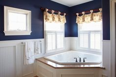 blue and white nautical theme bathroom - Google Search