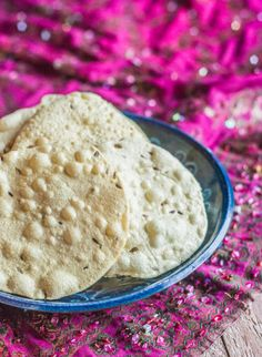 Papadums Ingredients 2 cups urid flour 1/4 cup water 3/4 tsp. salt 1 tsp. whole cumin coconut oil (for kneading and possibly deep frying) freshly ground black pepper to taste garlic powder optional, to taste