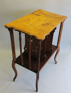 Authentic Signed EMILE GALLE Art Nouveau Inlaid Music Stand c. 1900 table #ArtNouveau #GalleEmille Galle'More Pins Like This At FOSTERGINGER @ Pinterest