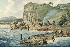 A mystery about one of Newcastle's most famous pieces of Aboriginal art history may have been solved, with a new theory about the location of a Joseph Lycett painting. Lycett was a con. Aboriginal Culture, Aboriginal People, Aboriginal Art, Australian Painting, Australian Artists, First Fleet, Early Explorers, Colonial Art, Newcastle