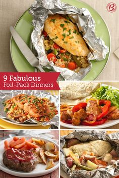 Fill, fold, grill and bam—dinner is served. Foil packs are perennial fan-favorites and, even better, require practically no cleanup! Tin Foil Dinners, Foil Packet Dinners, Foil Pack Meals, Foil Packets, Hobo Dinners, Grilling Recipes, Cooking Recipes, Healthy Recipes, Honey Sriracha Chicken