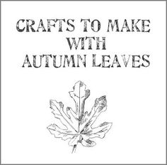 Crafts to make with autumn leaves