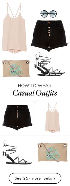"""Summer casual outfit 7.16.16"" by glamupparties on Polyvore featuring The Row, Helmut Lang, River Island, Anine Bing, Tom Ford and outfits"