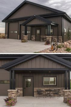 Garageremodeling Remodeling Garage In 2019 Metal Garages Pole House, Pole Barn House Plans, Garage House Plans, D House, Shop House Plans, Cabin Plans, Steel Building Homes, Metal Shop Building, Building A House
