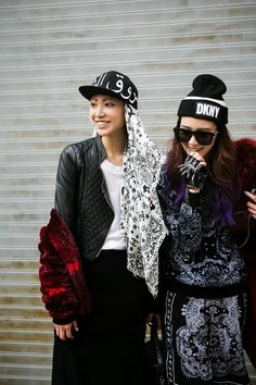 koreanmodel: Streetstyle: Irene Kim and Soo Joo in New York shot by Park Ji Min