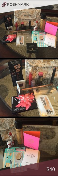 🌺Makeup Bag with Deluxe Samples/Other Size Sample NEW! Laura Ashley Makeup Bag with Deluxe Samples/Other Size Sample-Never Used! Excellent New Condition!! Ulta Makeup