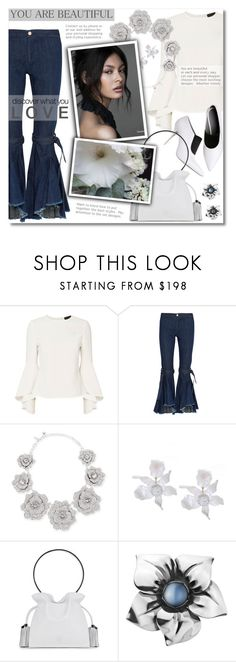 """""""Untitled #1112"""" by valentina1 ❤ liked on Polyvore featuring Exclusive for Intermix, Maggie Marilyn, Alexander Wang, Kate Spade, Loewe and Georg Jensen"""