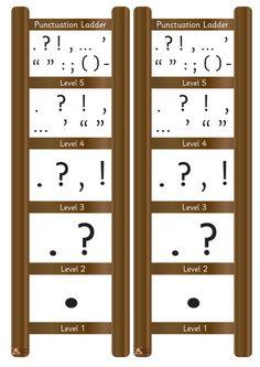 Teacher's Pet - Mini Punctuation Ladder - FREE Classroom Display Resource - EYFS, KS1, KS2, vcop, punctuate, ladders, writing, ros, wilson
