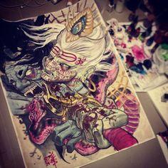 Japanese Tattoo Irezumi Full back Hindu God Lord Shiva Demon Andhaka www.mudohori.com www.instagram.com/mudohori