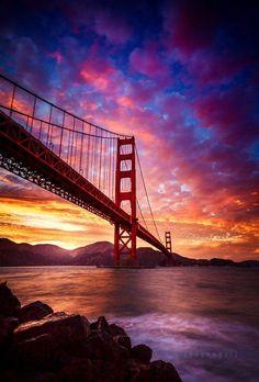 Golden Gate Bridge by Engel Ching - San Francisco Feelings