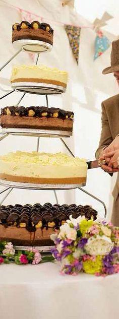 Cheesecake Wedding Cake Yes Please!