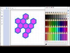brother scan n cut tutorials geometric hexagon dies - YouTube