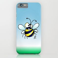 Buy Bumbling Bee by Cardvibes.com - Tekenaartje.nl as a high quality iPhone & iPod Case. Worldwide shipping available at Society6.com. #Cardvibes #Tekenaartje #Society6 #spring#Cardvibes #Tekenaartje #Society6 #spring