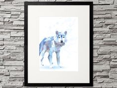 Wolf im Schnee (Winter), Low Poly Wolf - geometric Animal Printable Designs, Printables, Geometric Animal, Design Show, Low Poly, Gifts For Family, Decorating Your Home, Wolf, Gallery Wall