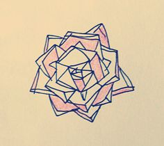 geometric flower - would love this as a tattoo