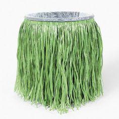 1 Luau Tiki Beach Pool Party Decor Plastic Trash Can Hula Grass Skirt Cover | eBay