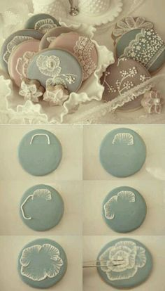 Intricate royal icing flower with paint brush.