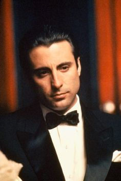 Andy Garcia for the hero or villain. The Godfather Part Iii, Godfather Movie, Corleone Family, Don Corleone, Diane Keaton, I Movie, Movie Stars, Shire, Gangster Movies