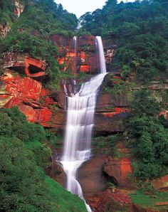 Waterfall, Zhangye Danxia Landform, Gansu Province, China