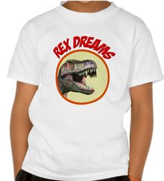 Rex Dreams - Kids' Dinosaur T-Shirt. One for the dinosaur lover in your life! Kids' Basic Hanes Tagless T-Shirt is a family favorite. Made from pre-shrunk 100% cotton. Happy T-rex dinosaur dreams! http://www.zazzle.com/rex_dreams_kids_dinosaur_t_shirt-235938719907761070 #dinosaurs #T-shirt #TShirtDesign #kidsGift #gifts