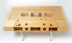 now this is art for the 80's lover in me, found at http://manmadediy.com, a true do it yourself project, check out the wood details of the tape inside.