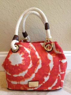 MICHAEL Michael Kors Marina MD Grab Bag Canvas Tie Die Persimmon; not to fond of the color but I do loveit