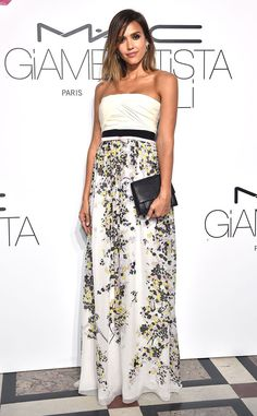 Jessica Alba from The Best of the Red Carpet  Never one to disappoint, the actress steals the show at the MAC Cosmetics & Giambattista Valli Floral Obsession Ball in one of the designer's latest gowns.