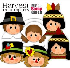 Harvest Treat Toppers & Cards: YOU CAN PURCHASE