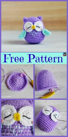 12 Cutest Crochet Amigurumi Owl Free Patterns - DIY 4 EVER Everyone loves owls, and they are one of our favorite animals! So why not learn how to make a adorable Crochet Amigurumi Owl for your child ? Crochet Owls, Crochet Amigurumi Free Patterns, Cute Crochet, Crochet Crafts, Crochet Baby, Crochet Projects, Knitting Patterns, Knit Crochet, Diy Projects