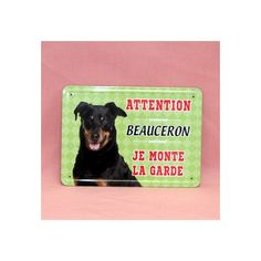 Plaque de race en métal, beauceron.  Dimension: 15cm x 21cm