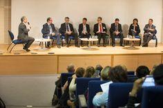 Table ronde avec tous les partenaires de l'outil Seirich sur les démarches et les solutions relatives à la prévention des risques en entreprise, lors de la Journée d'information Seirich du 15/09/2015 à Paris © INRS