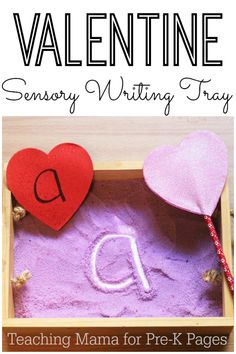 Color salt with food coloring, add some scent, and let students practice writing with an unsharpened pencil Source by vzqzsylv and me activities Valentine Sensory, Valentine Theme, Valentines Day Activities, Valentine Day Crafts, Preschool Activities, Happy Valentines Day, Alphabet Activities, Preschool Learning, Valentine Ideas