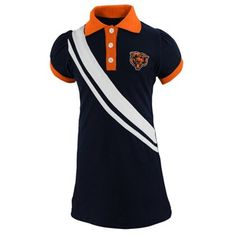 Chicago Bears Toddler Polo Dress - Navy Blue Orange 7c4f99495