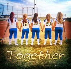 This is so cute! I don't play softball but this would be cute for my basketball team next year when a bunch of us are seniors we have to do this this year spence we will all be together love you all my softball girls even if we are not seniors we can do it now then when we are seniors we can do it again that will be cool