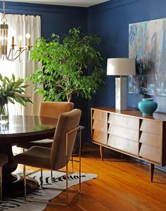 Modern Mix in the Dining Room: A Kansas Home Filled with Color and Pattern | Design*Sponge