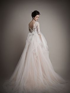 Blush Ombre Wedding Dress The 2015 Bridal Collection from Ersa Atelier Brimming With Grandeur and Elegance