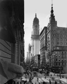 Another view down Broadway 1910