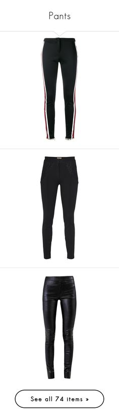 """Pants"" by jadinette98 ❤ liked on Polyvore featuring pants, bottoms, gucci, trousers, jeans, black, embellished pants, gucci pants, cuffed trousers and skinny fit pants"