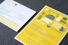 Modern Wedding Invitations by Good on Paper via Oh So Beautiful Paper (3)