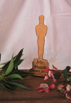 Laser cutting wooden Oscar trophy. Oscar Trophy, Laser Cutting, Ideas, Thoughts