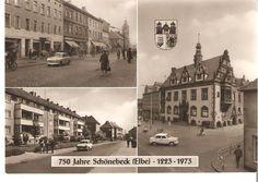 schönebeck elbe  | SCHÖNEBECK / Elbe . Gesamtansicht über die Elbe .