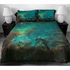 Blue galaxy bedding set blue nebula digital print duvet cover set custom made any sizes twin xl full queen king sets Blue Bedding Sets, Matching Bedding And Curtains, Kids Bedding Sets, Cheap Bedding Sets, Queen Bedding Sets, Luxury Bedding Sets, Dorm Bedding, Comforter Sets, King Comforter